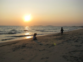 Mae Phim beach at sunset