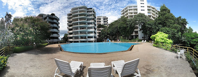 C Condo towers and pool area