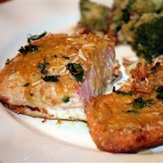 Crusted Salmon with Honey-Mustard Sauce