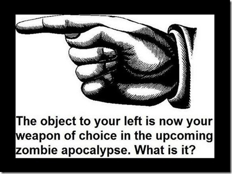 zombie weapon of choice
