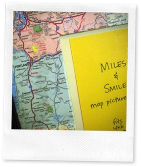 Miles & Smiles picture frame PacNW
