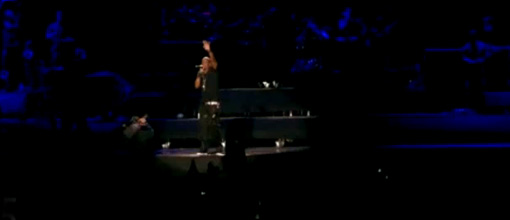 Jay-Z and his super special guest perform 'Forever young'
