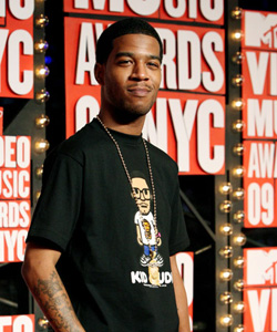 Kid Cudi on the red carpet at the VMA's [image courtesy of Getty images and MTV]