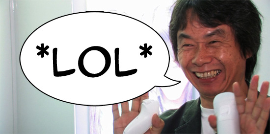 Shigeru Miyamoto be *LOL*'ing it up