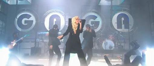 Lady Gaga performs 'Bad romance' on Jay Leno