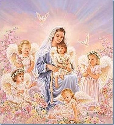 La Bella María con los angelitos