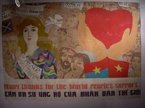 Agradecimiento al apoyo internacional durante la guerra contra USA