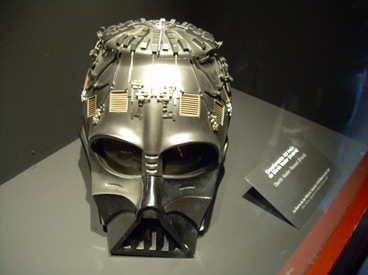 casco de Darth Vader. Exposición de Star Wars, Madrid