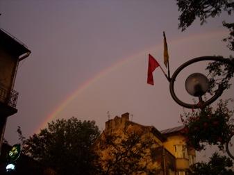 arco iris sobre Zakopane