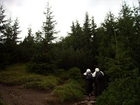 monjas subiendo al Sarnia Skala, Altos Tatras