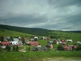paisaje desde el bus Zakopane-Poprad