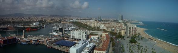 Barcelona desde la torre de San Sebastián