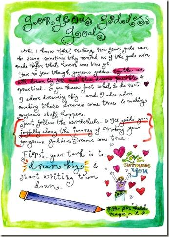 goddess workbook page two