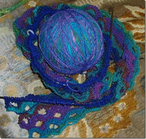fishtail scarf in progress two