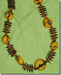 funky yellow necklace detail
