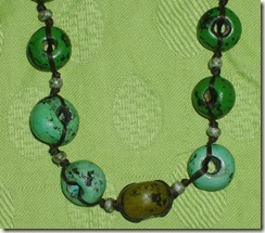 green jello necklace detail detail