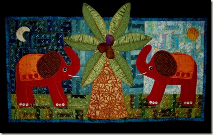 elephants in the garden
