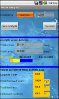 Screenshot of Water analysis