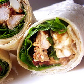 Chicken, Feta Cheese, and Sun-Dried Tomato Wraps