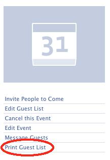 print guest list