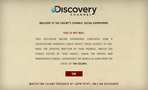 Discovery's channel The Colony Facabook