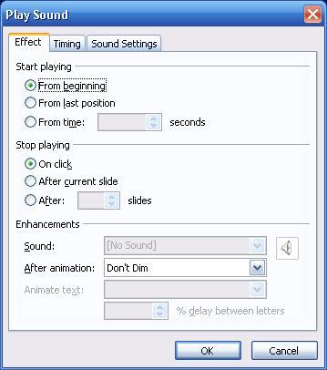 Cách chèn nhạc trong POWER POINT 2003
