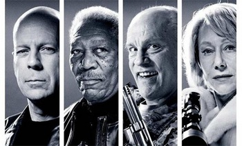 Bruce Willis, Morgan Freeman, John Malkovich y Helen Mirren