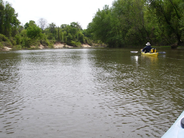 Julie headed downstream