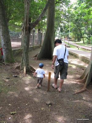 berjalan bersama papa