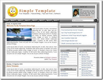 Simple CSS3 Template