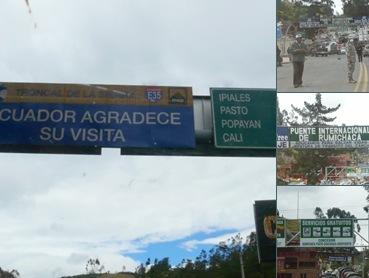 Ver frontera de Ecuador y Colombia