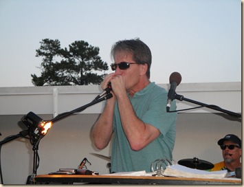Rick on harmonica