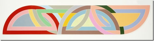 Frank Stella Protractor - Damascus Gate Stretch Variation 1968