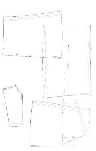 Burda pattern insert blue trace lines