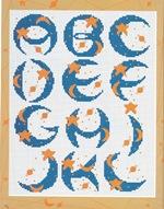 abecedarios punto de cruz. (166)