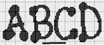 abecedarios punto de cruz. (185)