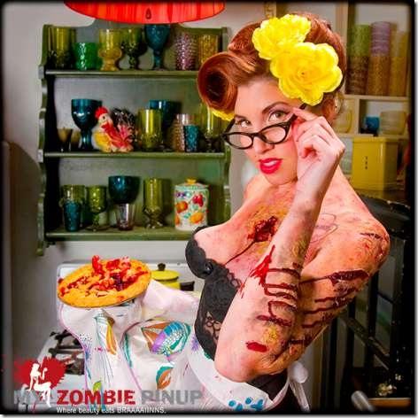calendario zombie retro