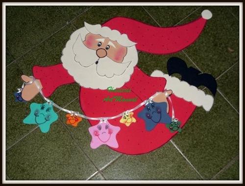 Manualidades navidad, ideas para papa Noel en foami | Jugar y colorear