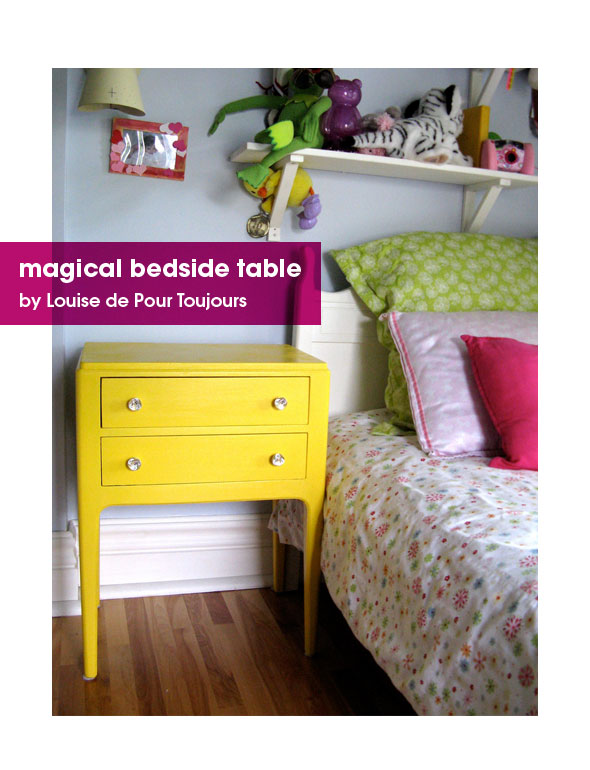 Incroyable ... Embrace The Pretty A Dash Of Colour Colourful Furniture This Is Her  Magical Yellow Bedside Table ...