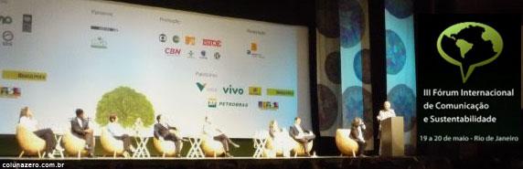 coluna zero, comunicação, sustentabilidade, forum, rio de janeiro