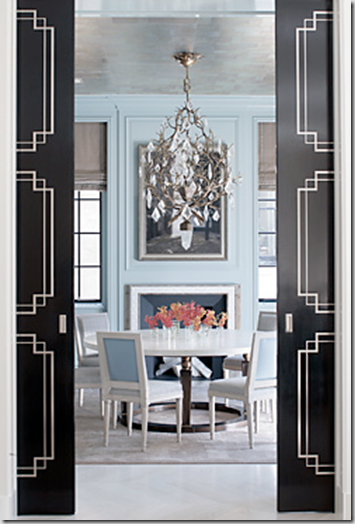 Peter Pennoyer Park Avenue Apt Dining Room blackglossypocketdoors