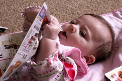 Elaine 17 weeks eating the sale ads