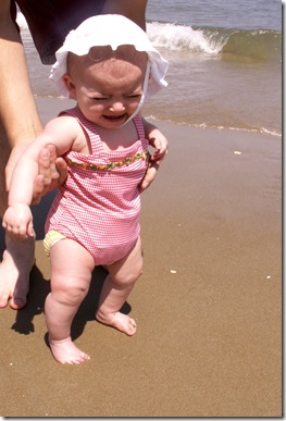 Elaine 25 Weeks First time at the Beach
