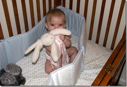Elaine 6 months destroyed crib