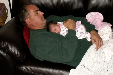 Elaine Day 7 with Grandpa Godby