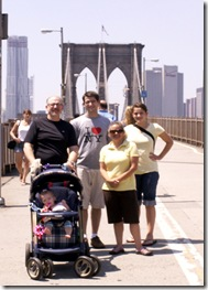 NYC Brooklyn Bridge with the Hamiltons