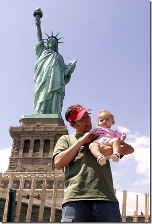 Danielle Visits NYC - Statue of Liberty and NYC Skyline