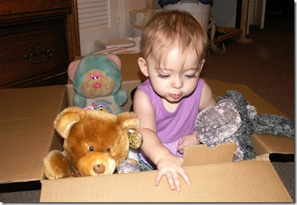 Elaine 9 months playing in box