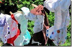 Clothesline diaper header