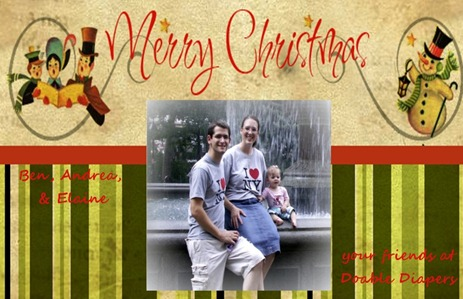 doable diapers christmas card